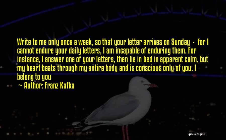 Love Beats Quotes By Franz Kafka