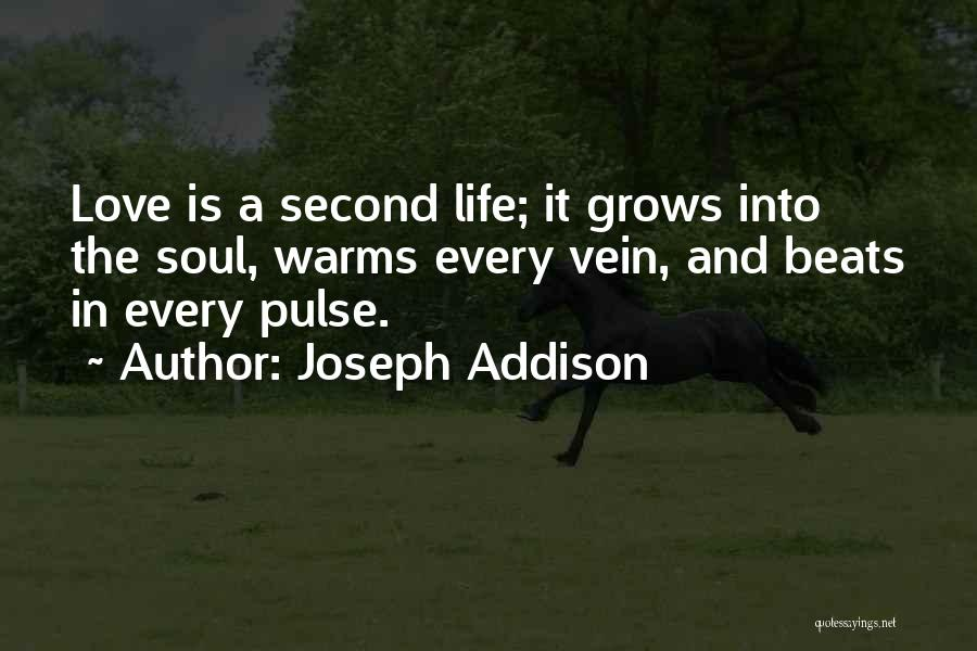 Love Beats Quotes By Joseph Addison