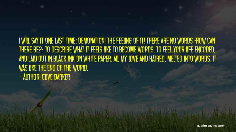 Love Black And White Quotes By Clive Barker