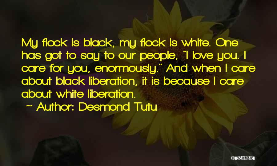 Love Black And White Quotes By Desmond Tutu