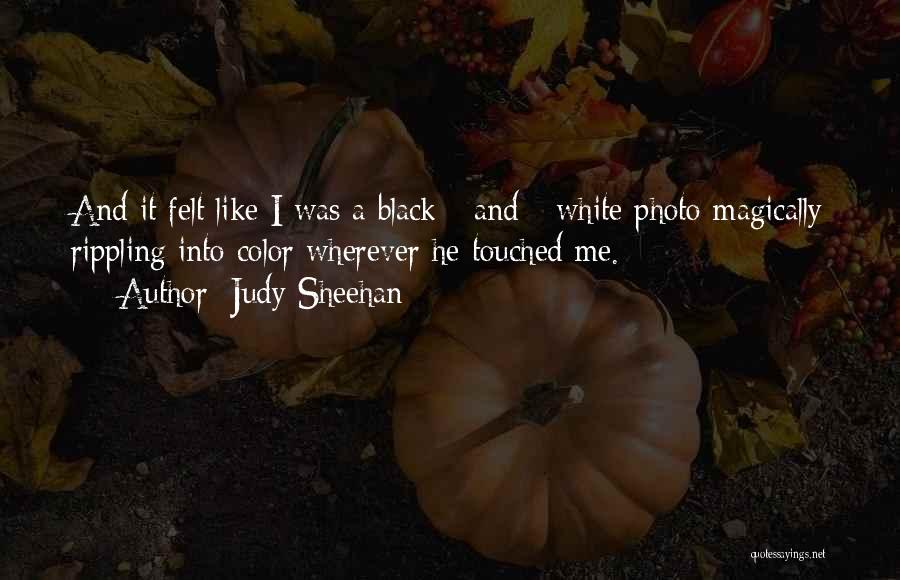Love Black And White Quotes By Judy Sheehan