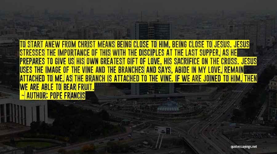 Love Branches Quotes By Pope Francis