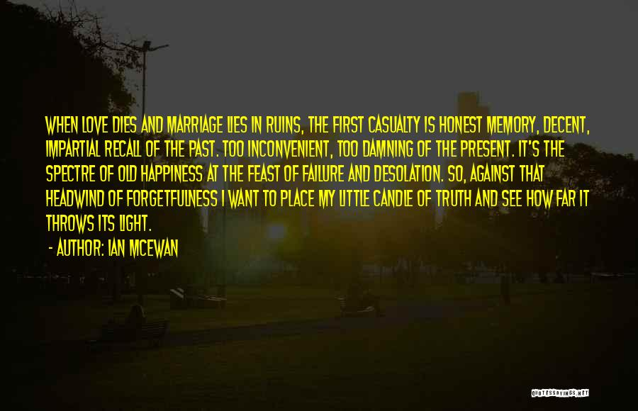 Love Candle Light Quotes By Ian McEwan