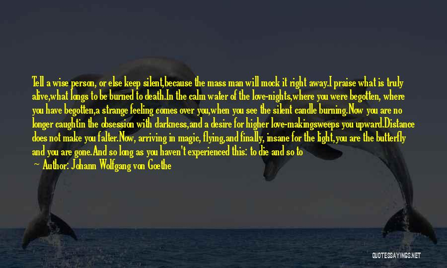 Love Candle Light Quotes By Johann Wolfgang Von Goethe