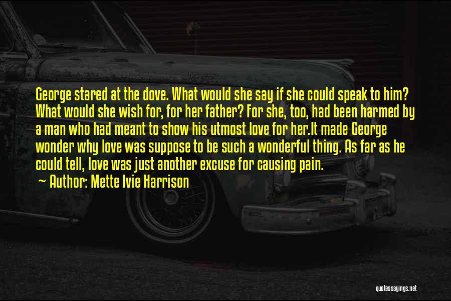 Love Causing Pain Quotes By Mette Ivie Harrison
