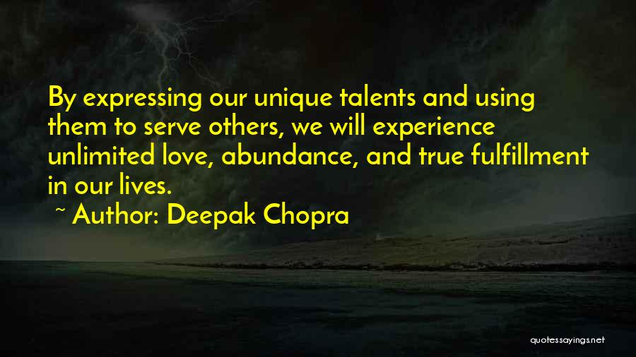 Love Expressing Quotes By Deepak Chopra