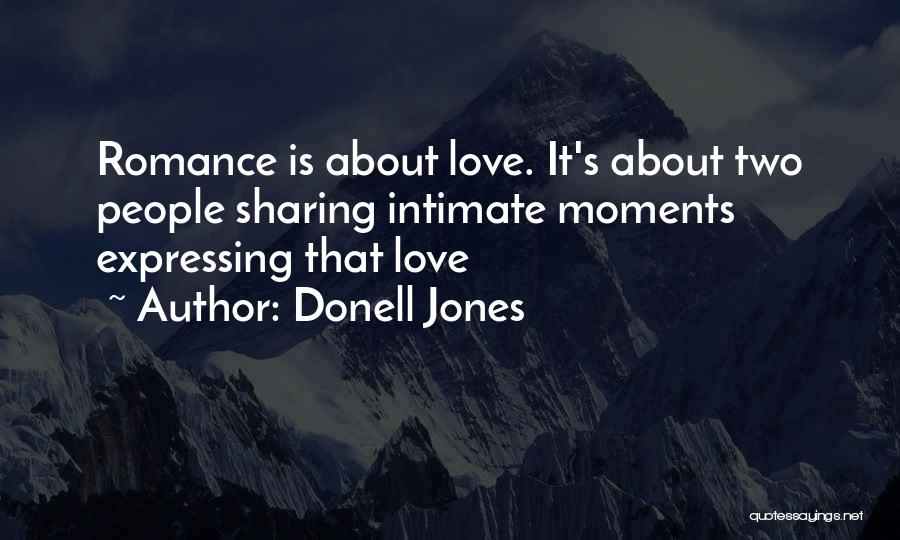 Love Expressing Quotes By Donell Jones