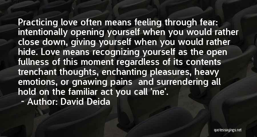 Love Feeling Thoughts Quotes By David Deida