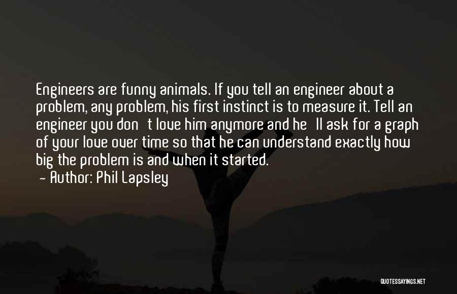 Love For Him Funny Quotes By Phil Lapsley