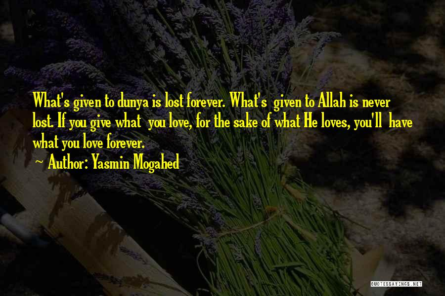 Love For The Sake Of Allah Quotes By Yasmin Mogahed