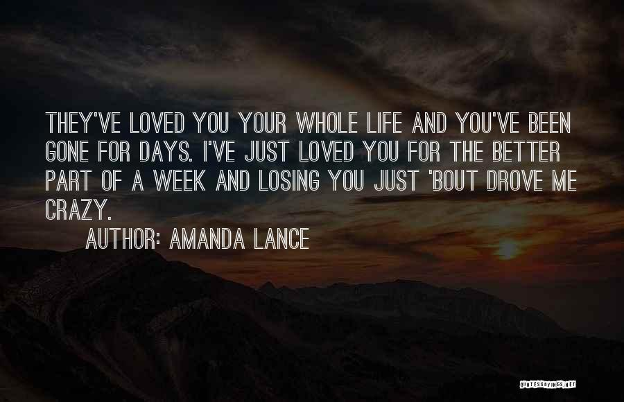 Love For Your Boyfriend Quotes By Amanda Lance
