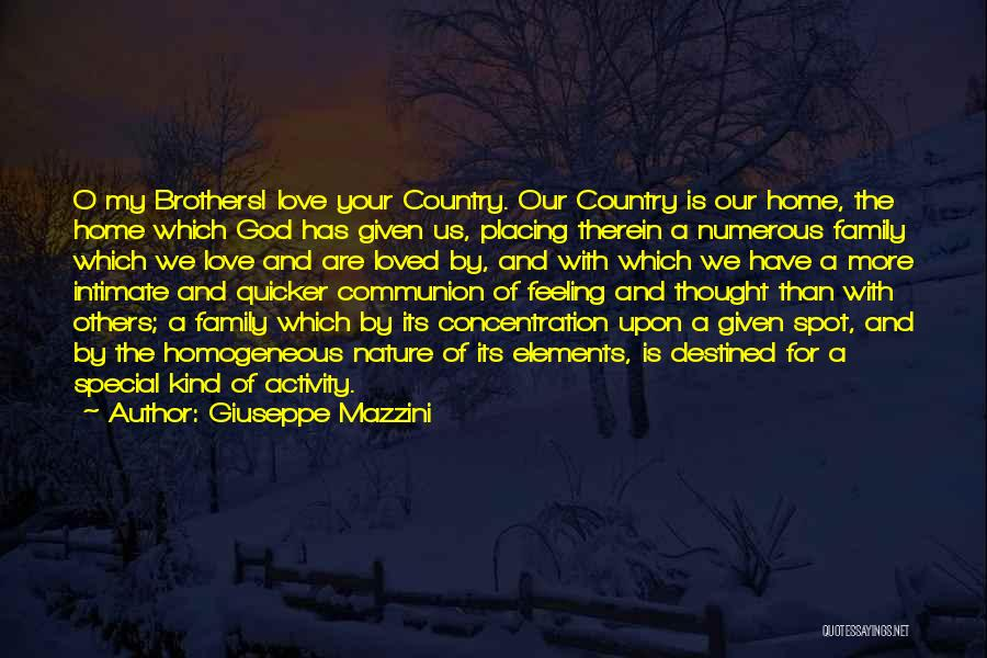 Love Given By God Quotes By Giuseppe Mazzini