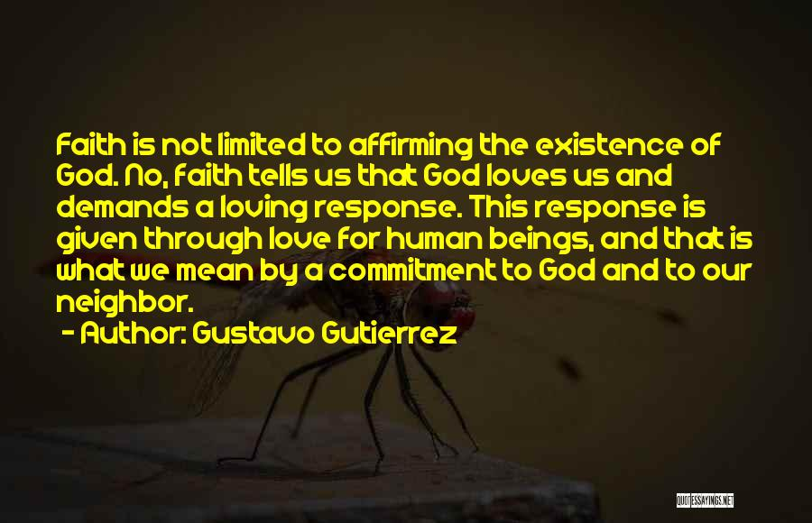 Love Given By God Quotes By Gustavo Gutierrez