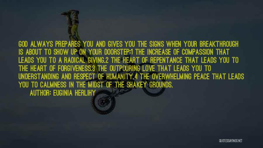 Love Giving Up Quotes By Euginia Herlihy