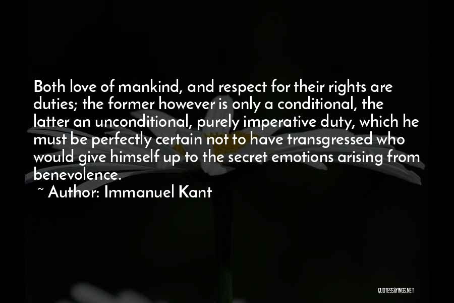 Love Giving Up Quotes By Immanuel Kant