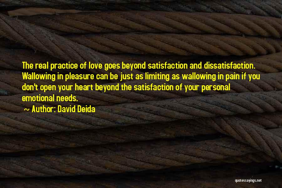 Love Goes Beyond Quotes By David Deida