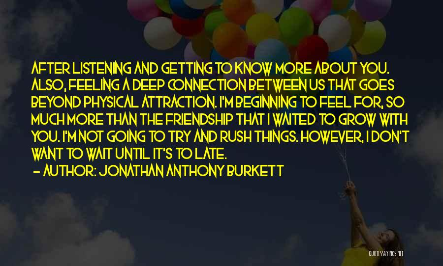 Love Goes Beyond Quotes By Jonathan Anthony Burkett
