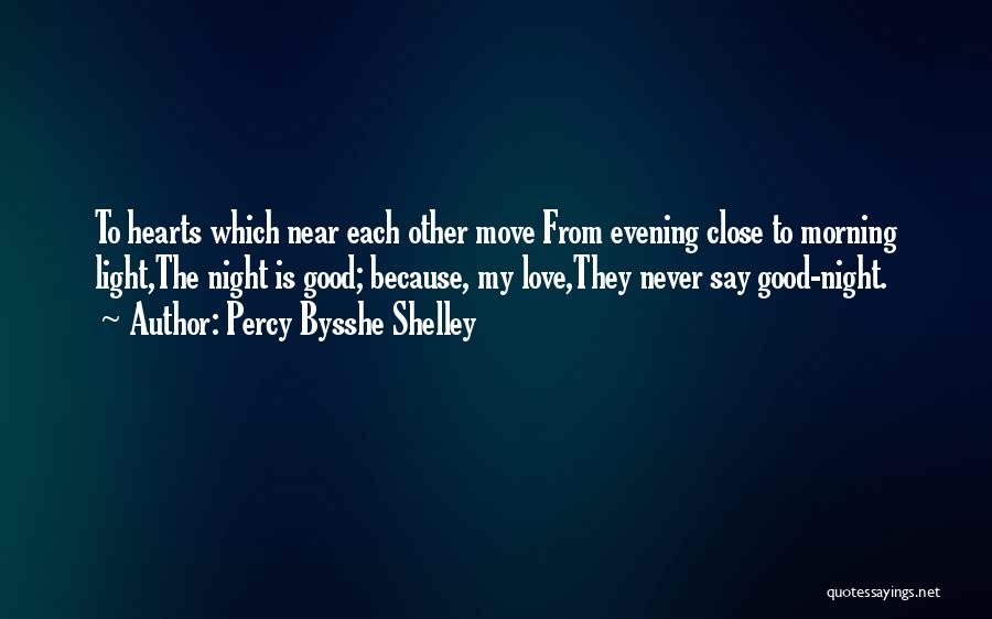 Love Good Evening Quotes By Percy Bysshe Shelley