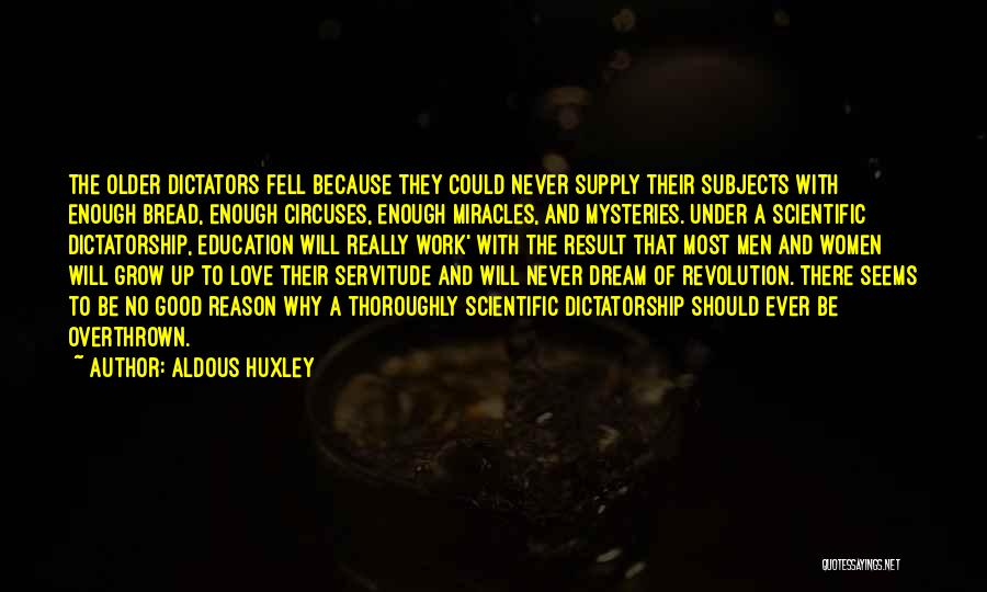 Love Growing Quotes By Aldous Huxley