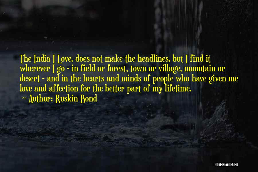 Love Hearts And Quotes By Ruskin Bond