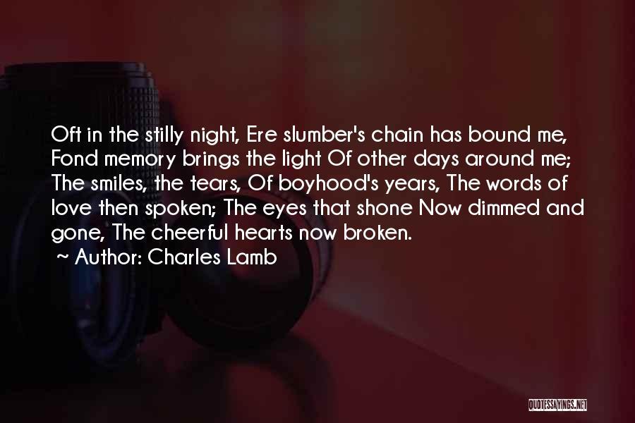 Love Hearts Broken Quotes By Charles Lamb