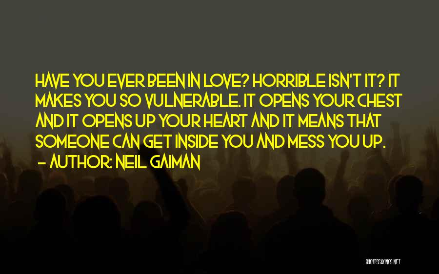 Love Horrible Quotes By Neil Gaiman
