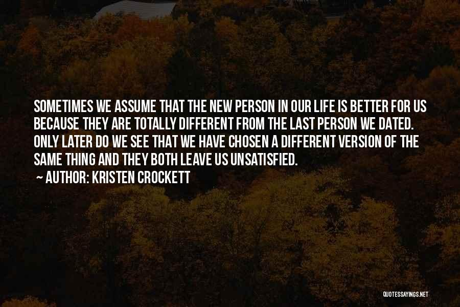 Love In Later Life Quotes By Kristen Crockett