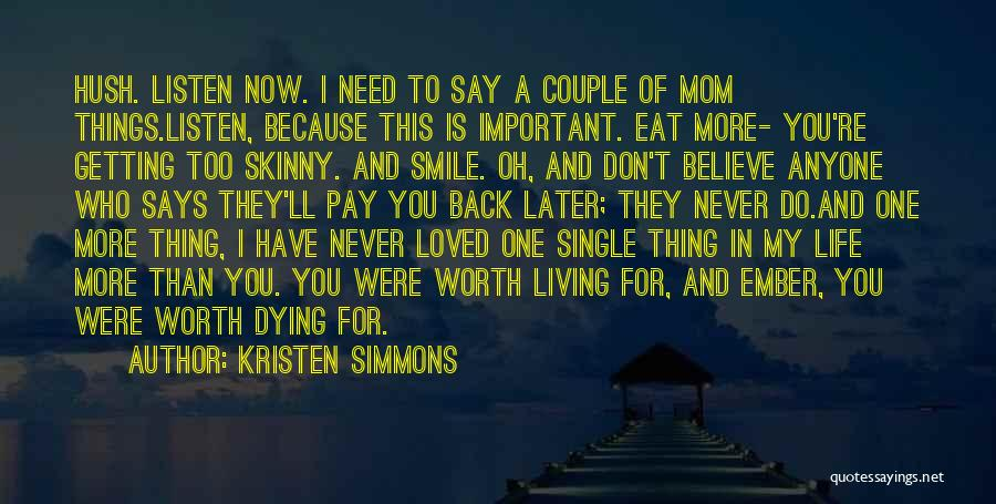 Love In Later Life Quotes By Kristen Simmons