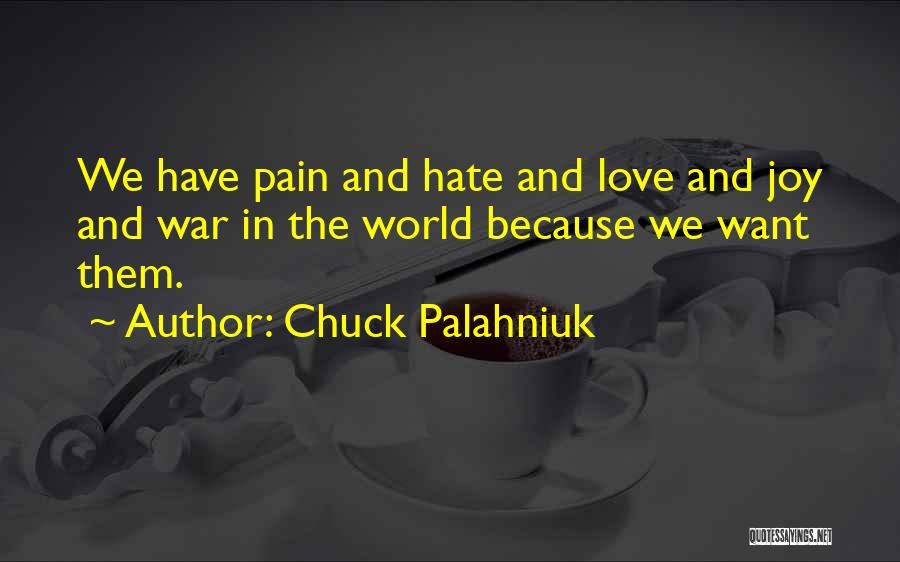 Love In Reality Quotes By Chuck Palahniuk
