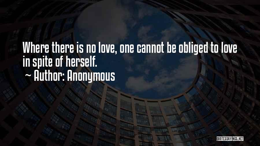 Love In Spite Of Quotes By Anonymous