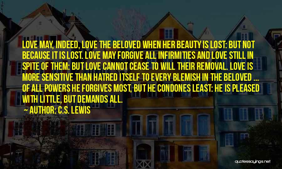 Love In Spite Of Quotes By C.S. Lewis