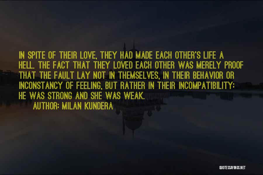 Love In Spite Of Quotes By Milan Kundera