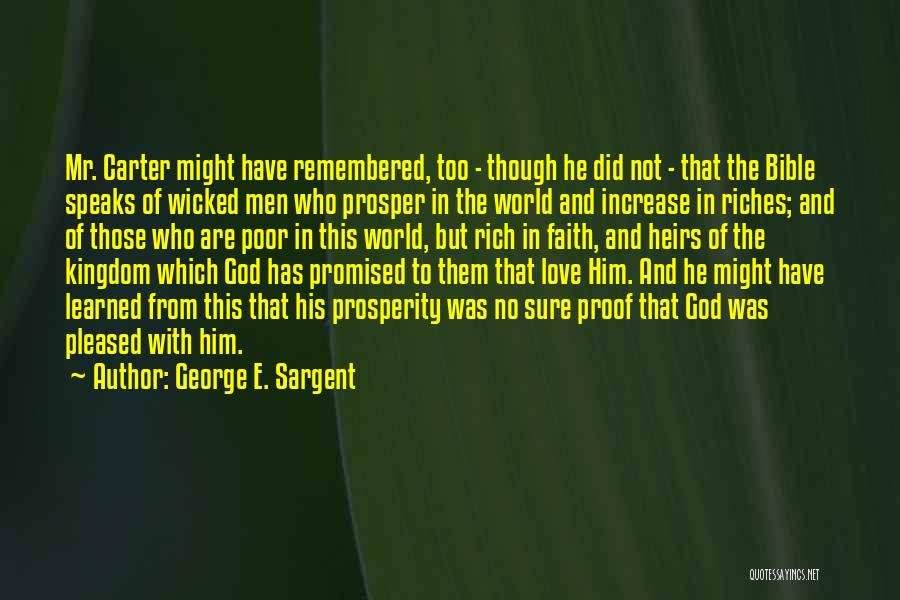 Love In The Bible Quotes By George E. Sargent