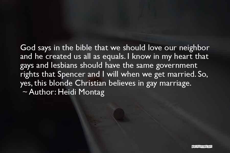 Love In The Bible Quotes By Heidi Montag