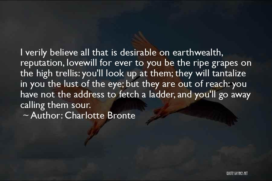 Love Is Not Lust Quotes By Charlotte Bronte