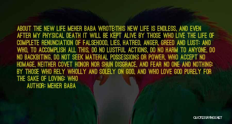 Love Is Not Lust Quotes By Meher Baba