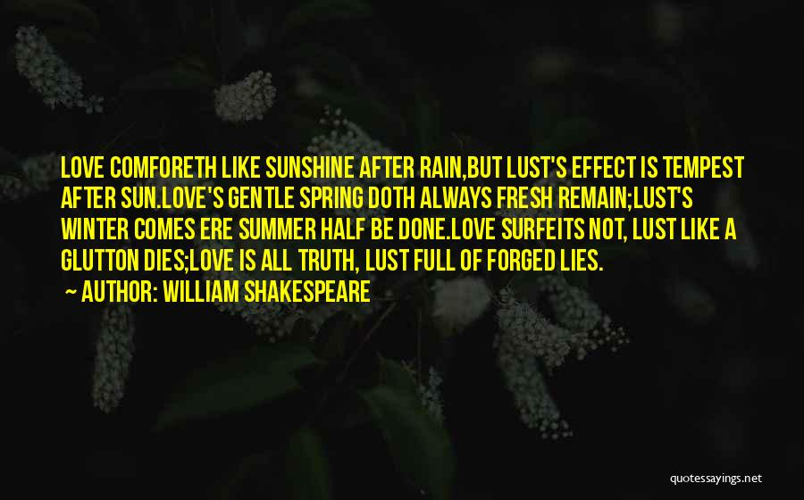 Love Is Not Lust Quotes By William Shakespeare