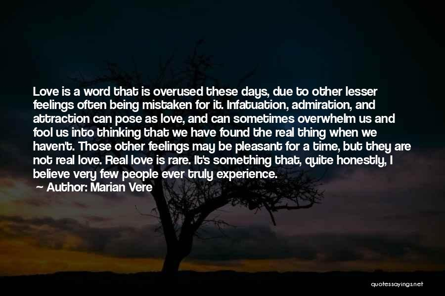 Love Is Overused Quotes By Marian Vere