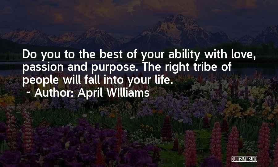 Love Is Worth The Fall Quotes By April WIlliams