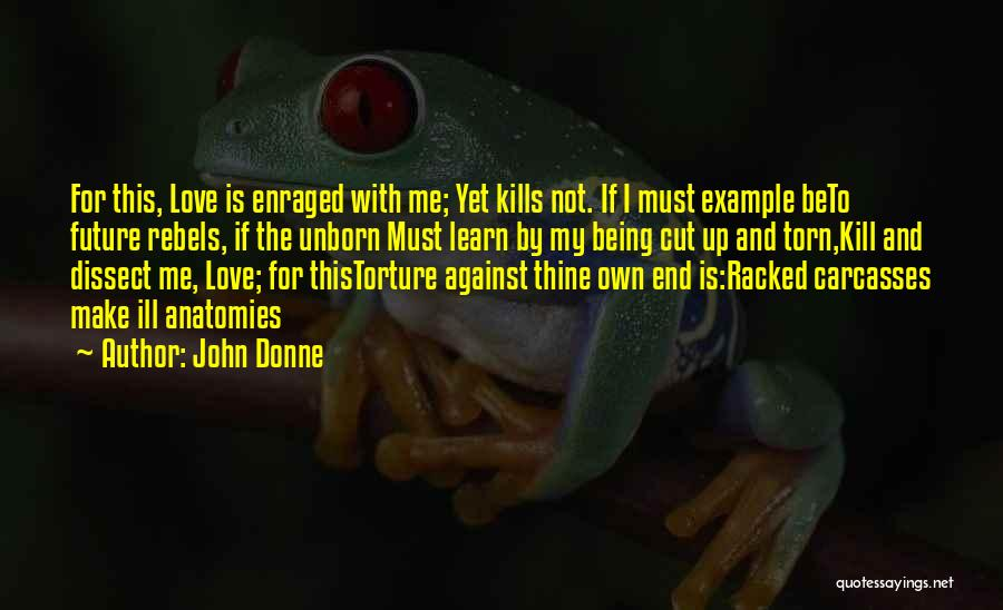 Love Kills Quotes By John Donne