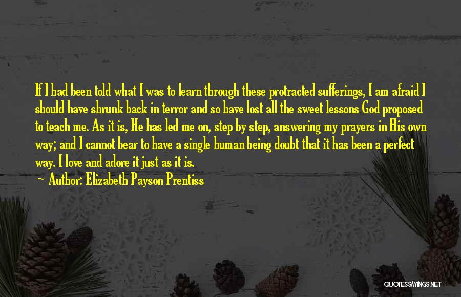 Love Lessons Quotes By Elizabeth Payson Prentiss