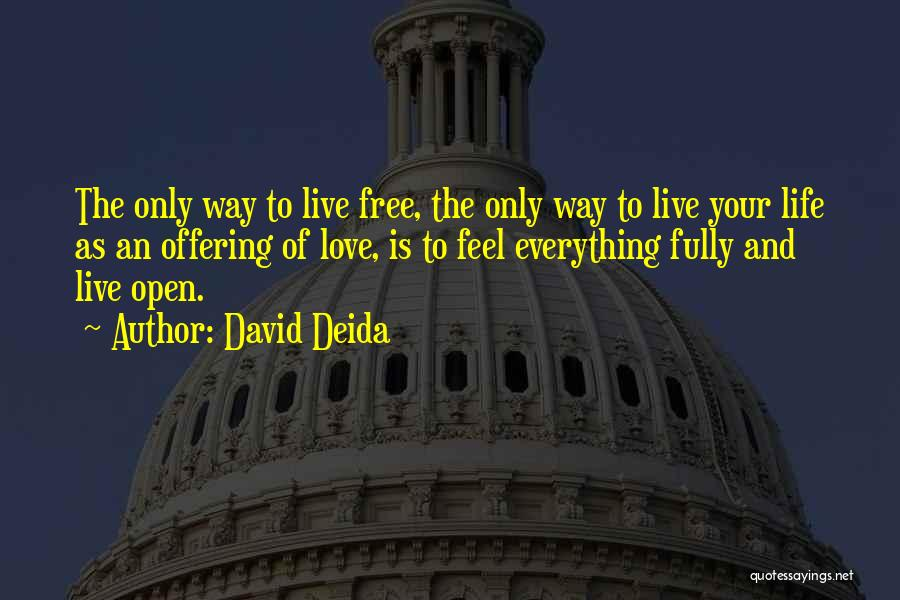 Love Life And Live Quotes By David Deida