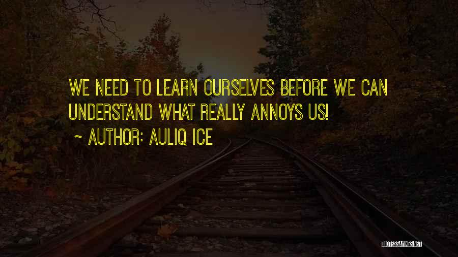 Love Life Learning Quotes By Auliq Ice