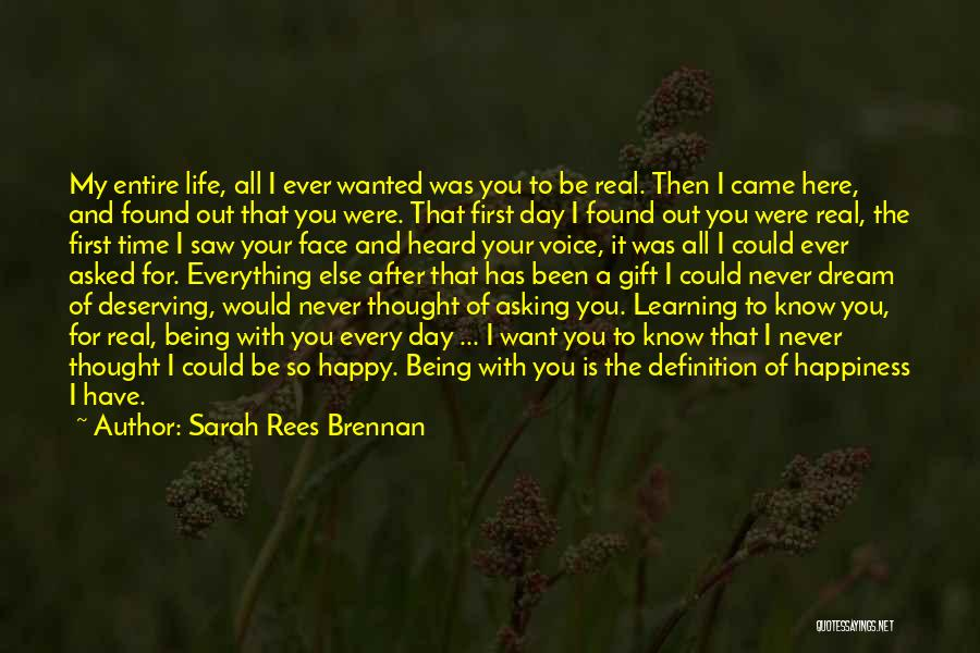 Love Life Learning Quotes By Sarah Rees Brennan
