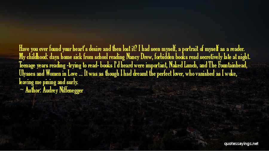Love Lost And Then Found Quotes By Audrey Niffenegger
