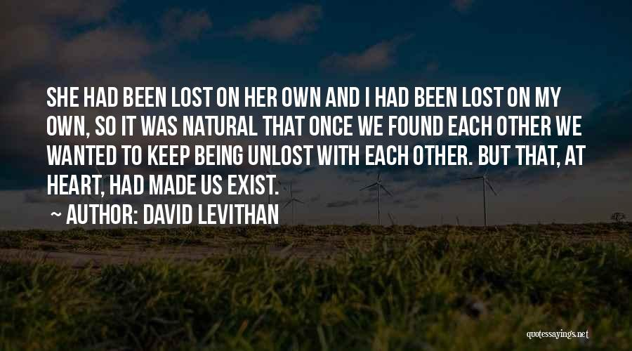Love Lost And Then Found Quotes By David Levithan