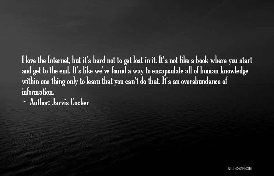 Love Lost And Then Found Quotes By Jarvis Cocker