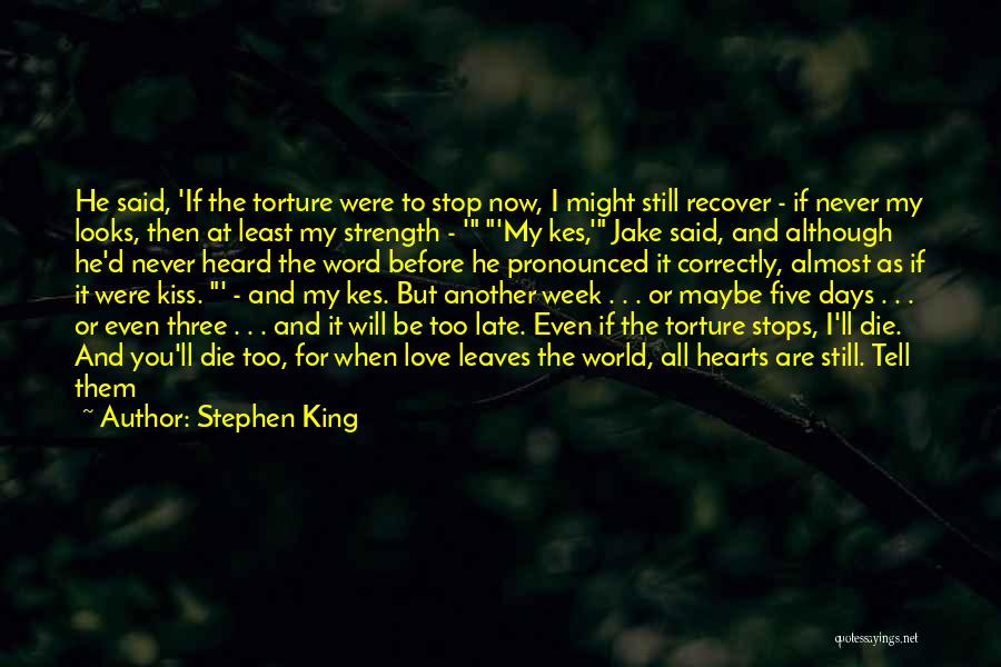 Love Me Before It's Too Late Quotes By Stephen King