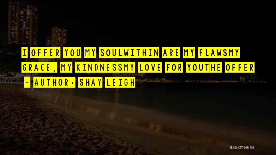 Love Me For My Flaws Quotes By Shay Leigh