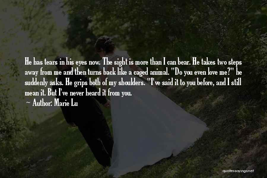 Love Me Like Never Before Quotes By Marie Lu